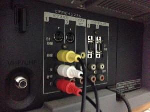アナログテレビのビデオ入力にケーブルをつなぐ