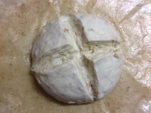 クルミのカンパーニュ(2次発酵終了)