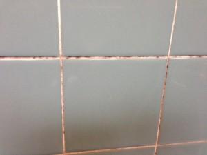 お風呂の目地の黒カビ
