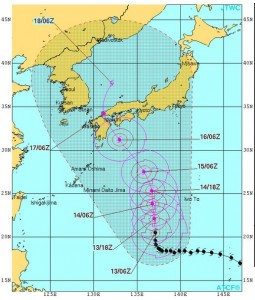 台風11号(米軍2015/7/13)