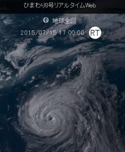 ひまわり8号の台風11号画像