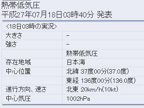 気象庁の台風11号の進路予想2