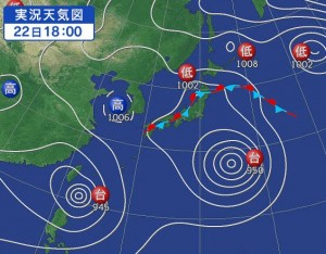 台風のヘクトパスカル(hPa)