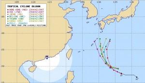 アジアの台風21号(ドゥージェン)の進路予想