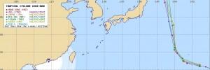 アジアの台風23号(チョーイワン)の進路予想