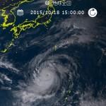 2015台風25号の最新進路予想、油井さんの宇宙からの画像も