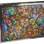 ディズニーステンドアートジグソーパズル、ステンドグラスのような光るパズル!