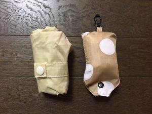エンビロサックスとダイソーのエコバッグの折りたたみサイズ比較