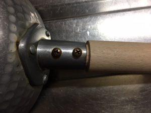 鍋の取っ手の修理、柄を交換