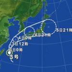台風3号の影響による飛行機の欠航・遅延(2017年7月3日)