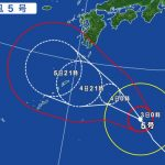 台風5号の影響による飛行機の欠航・遅延(2017年8月3日)