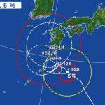台風5号の影響による飛行機の欠航・遅延(2017年8月4日)