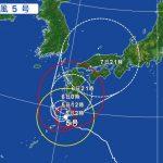 台風5号の影響による飛行機の欠航・遅延(2017年8月5日)