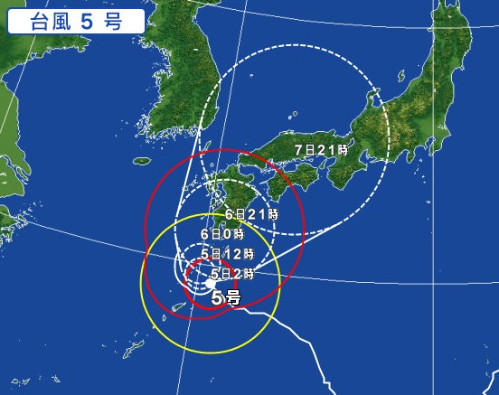 台風5号の影響による飛行機の欠航・遅延(2017年8月5日 ...
