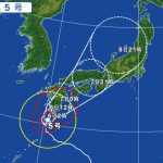 台風5号の影響による飛行機の欠航・遅延(2017年8月6日)