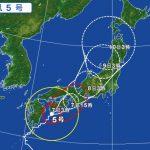 台風5号の影響による飛行機の欠航・遅延(2017年8月7日)