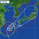 台風18号の影響による飛行機の欠航・遅延(2017年9月15日)