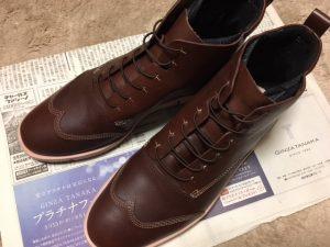 革靴用ゴム製靴紐モヒートを使ったショートブーツ